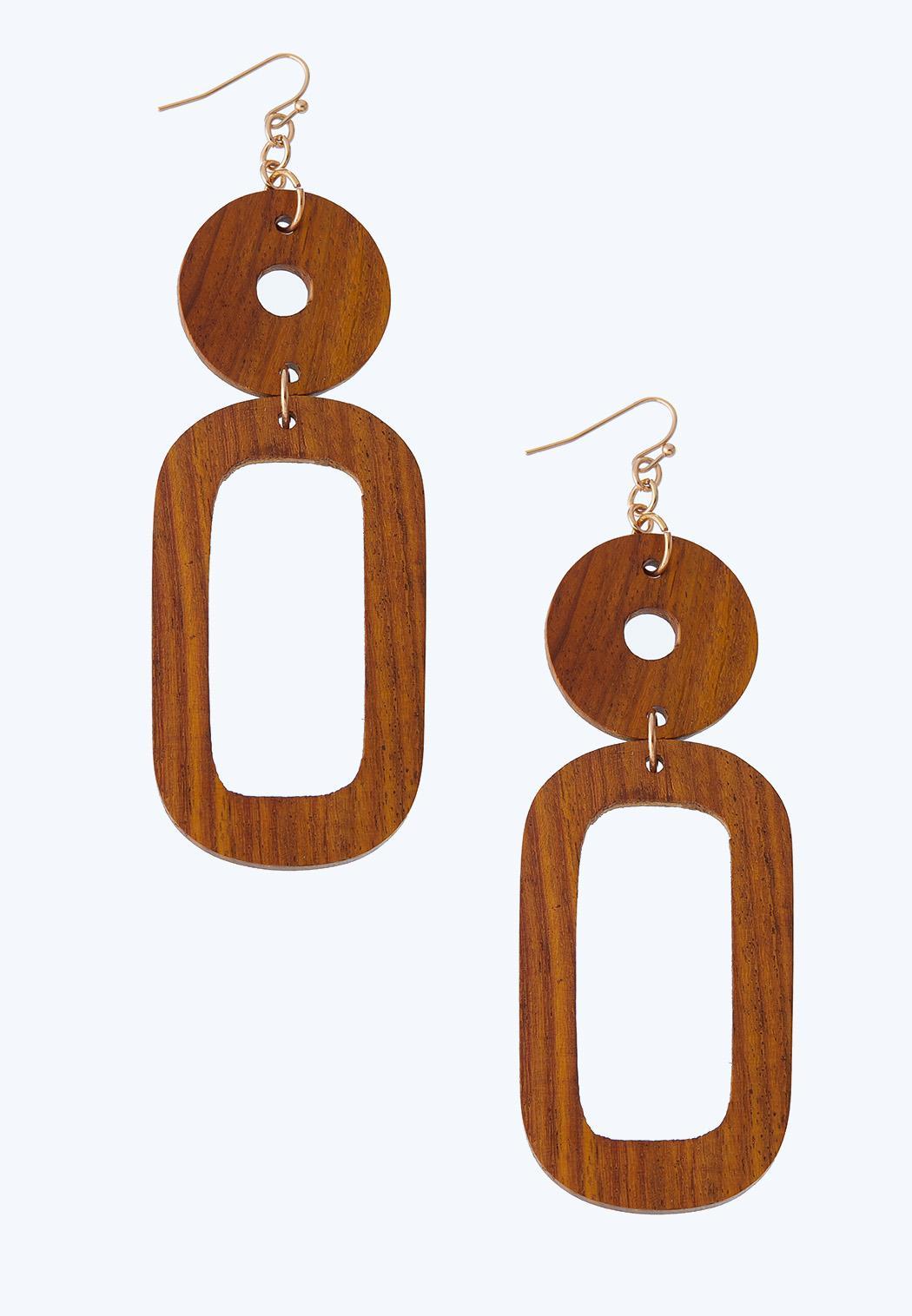 Geo Wooden Earrings
