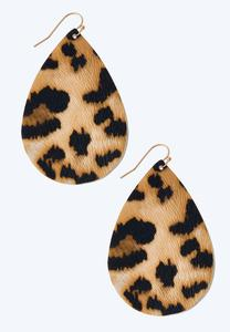 Leopard Tear Shaped Earrings
