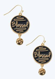 Blessed Enamel Earrings
