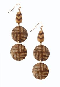 Wood Bead Linear Earrings