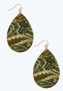 Floral Wooden Earrings