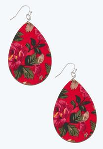 Floral Wooden Earrings