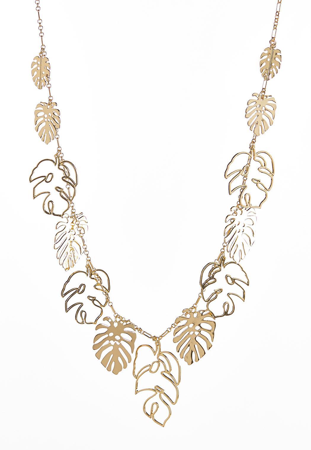 Palm Leaf Charm Necklace