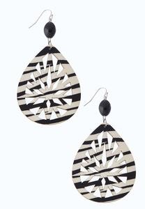 Printed Cutout Wood Earrings