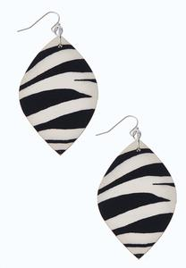 Printed Wood Earrings