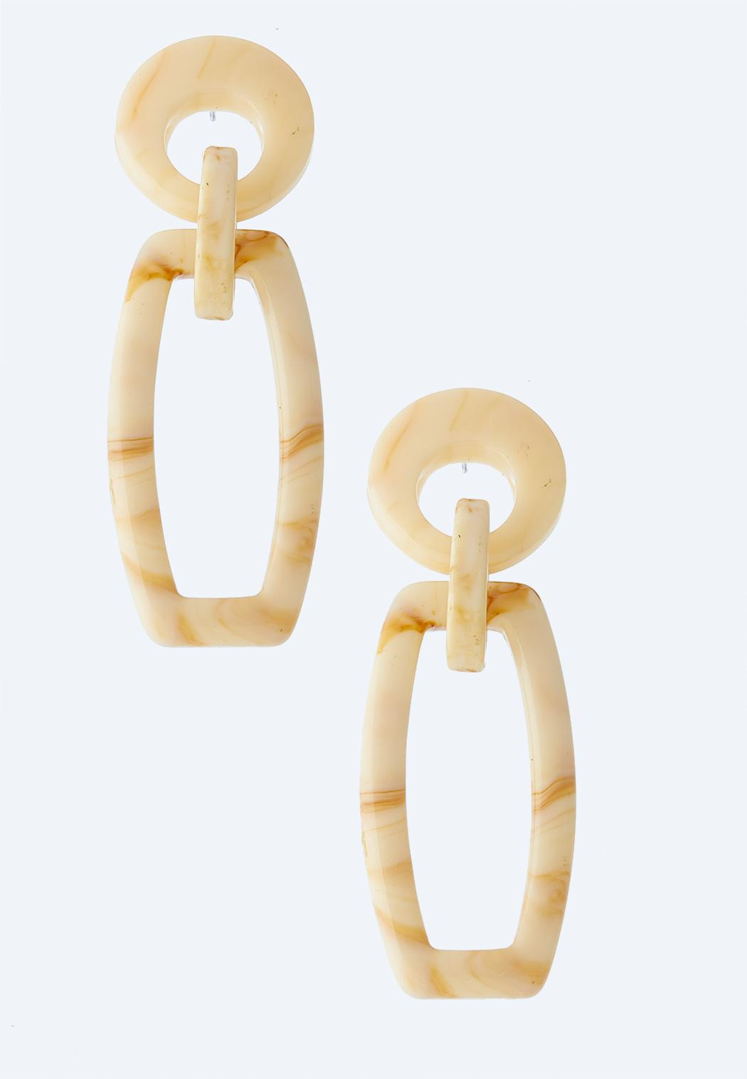 Linked Resin Earrings