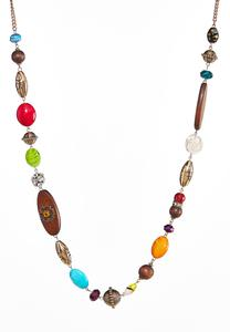 Multi Mixed Bead Necklace