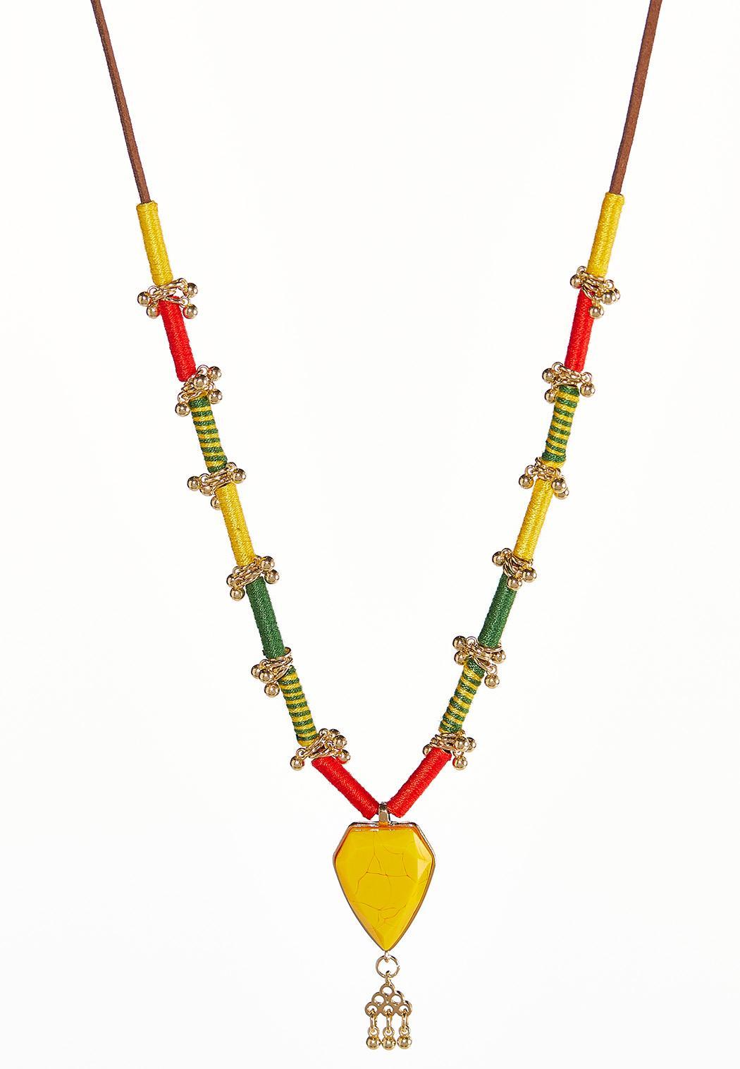 Citrus Shield Pendant Necklace