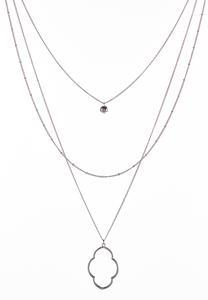 Layered Fleur Pendant Necklace