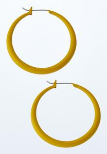 Solid Enamel Hoop Earrings