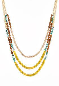 Layered Artisan Bead Necklace