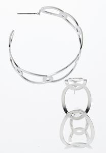 Flat Link Hoop Earrings