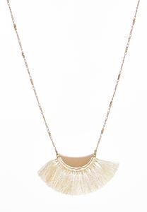 Half Moon Tassel Necklace