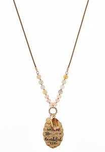 Engraved Arrow Pendant Necklace