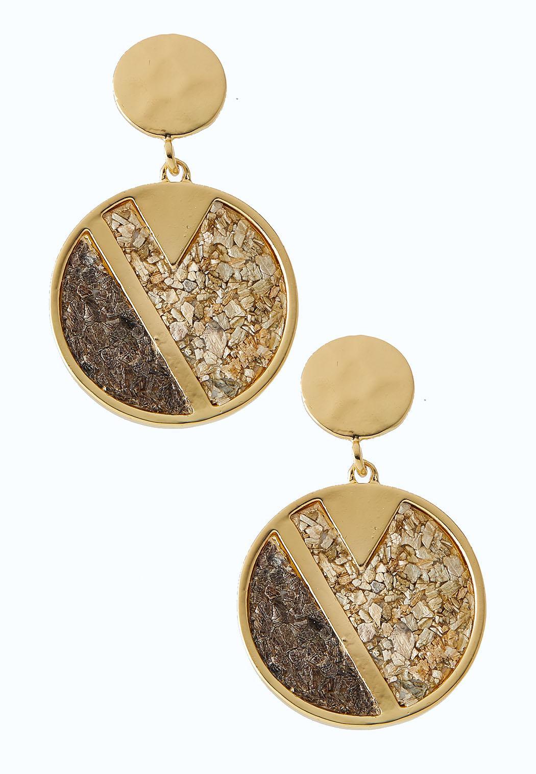 Round Cork Dangle Earrings
