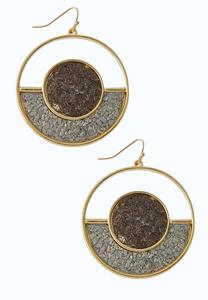 Gold Hoop Cork Earrings