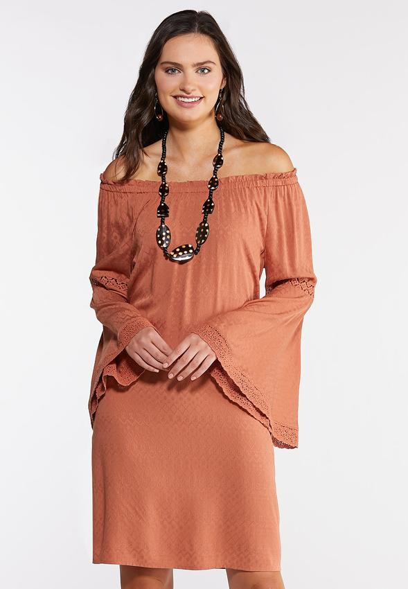great variety styles elegant in style customers first Plus Size Lace Trim Peasant Dress A- Line & Amp ; Swing Cato Fashions