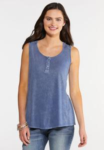 Crochet and Buttons Tank