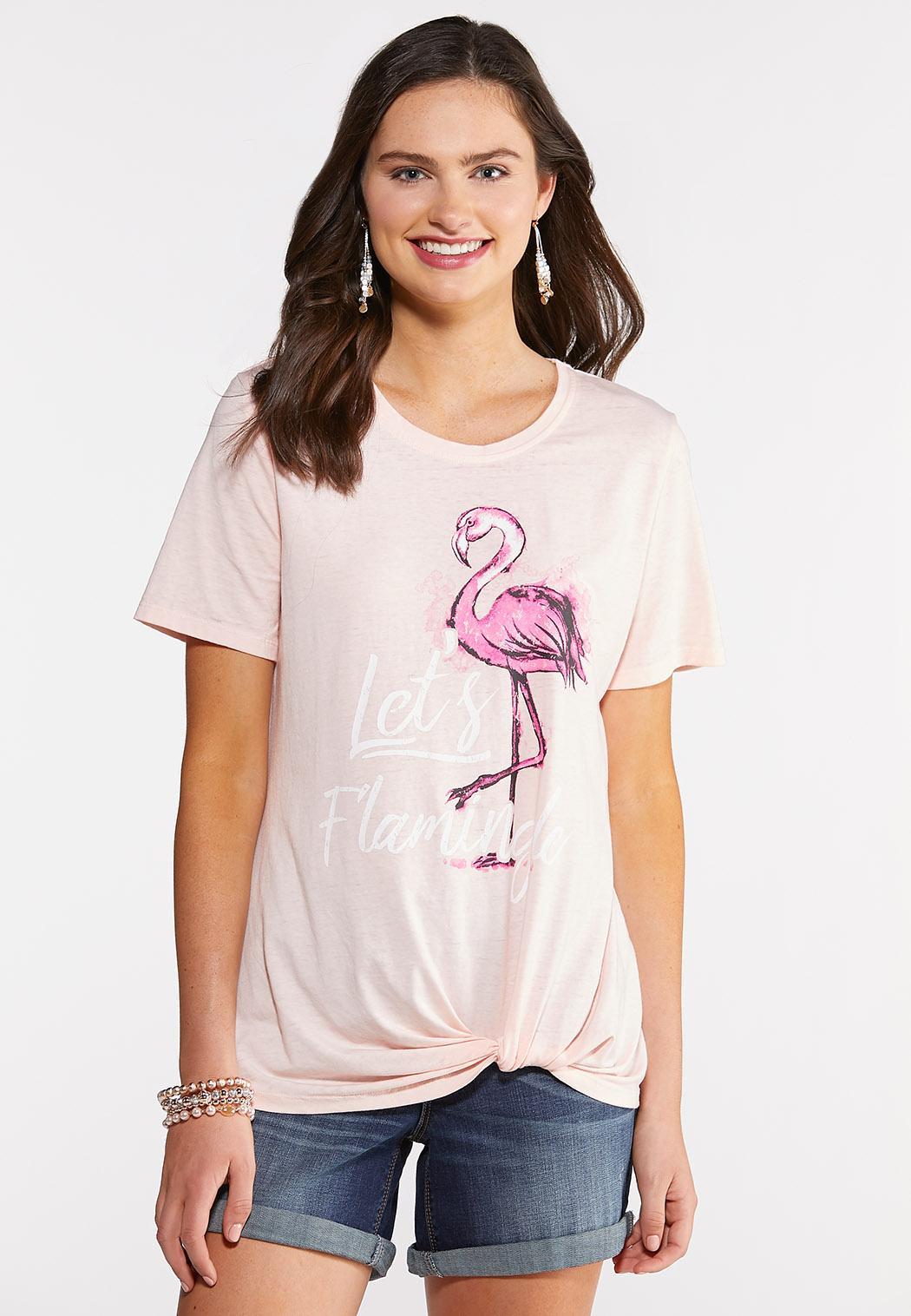 Let`s Flamingle Twist Tee