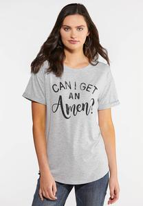 Plus Size Can I Get An Amen Tee