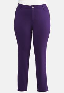 Plus Size Skinny Leg Ponte Pants