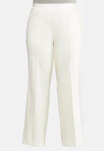 Plus Size Straight Leg Ponte Pants