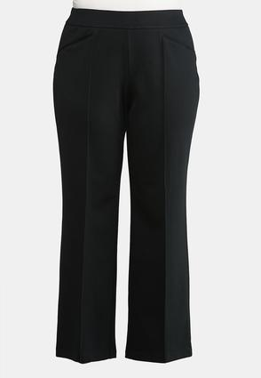 Extended Size Straight Leg Ponte Pants