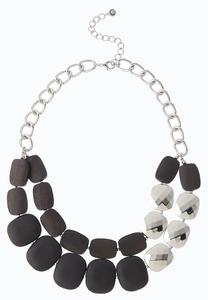 Chunky Color Bead Necklace
