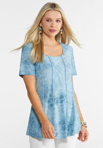 Seamed Textured Swing Top