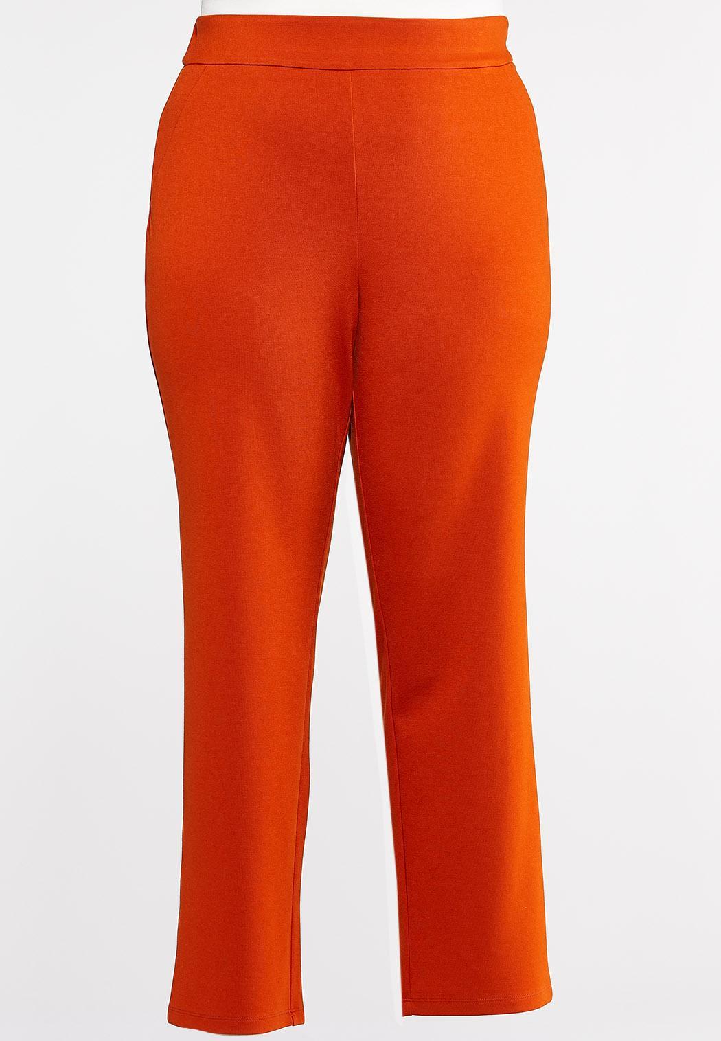 Plus Size Slim Leg Ponte Pants