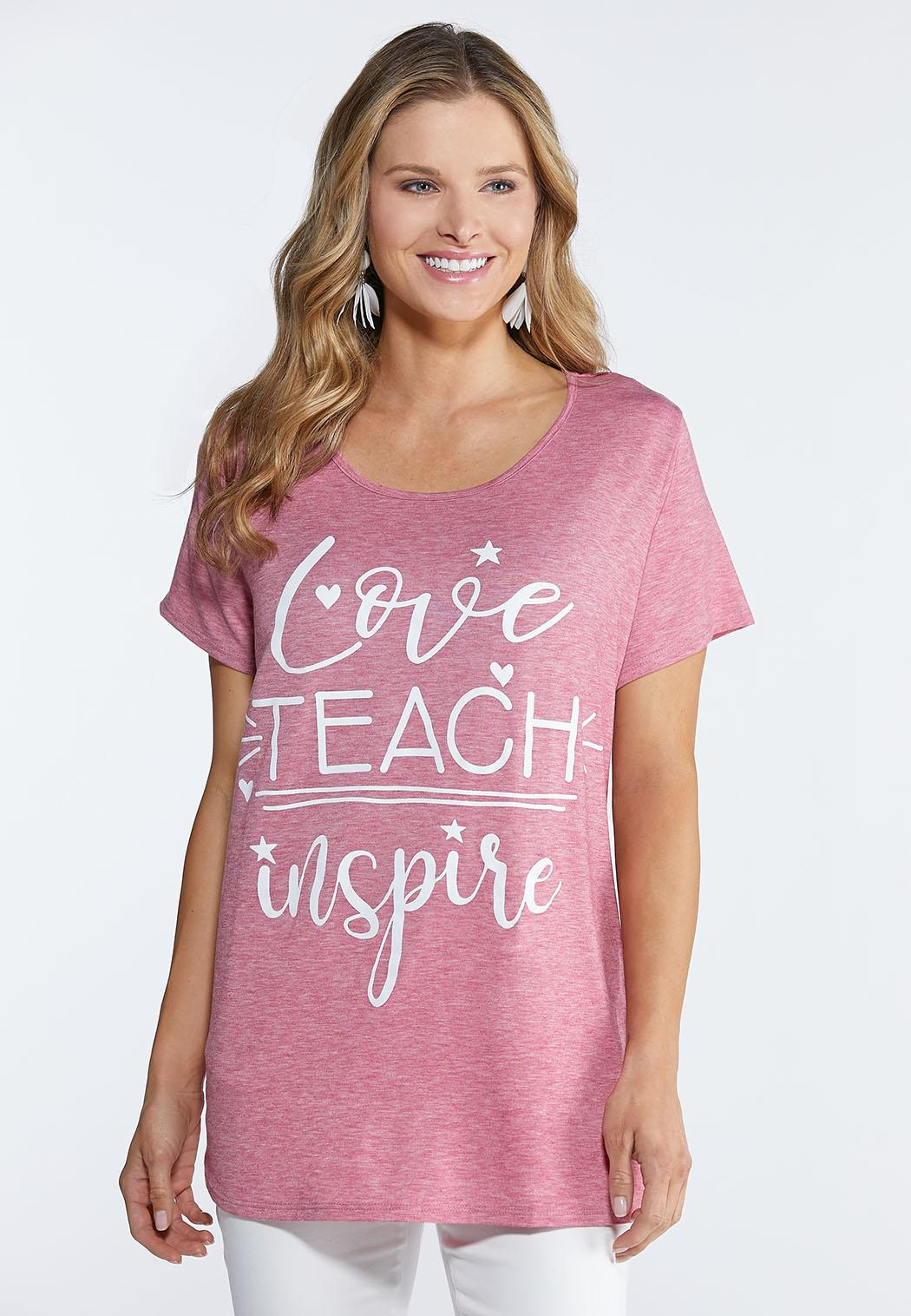 Plus Size Love Teach Inspire Tee