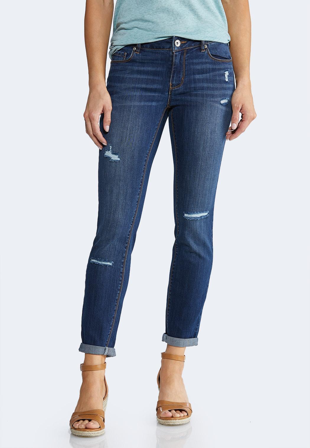 e7720c6e45c42 Dark Distressed Jeans alternate view · Dark Distressed Jeans