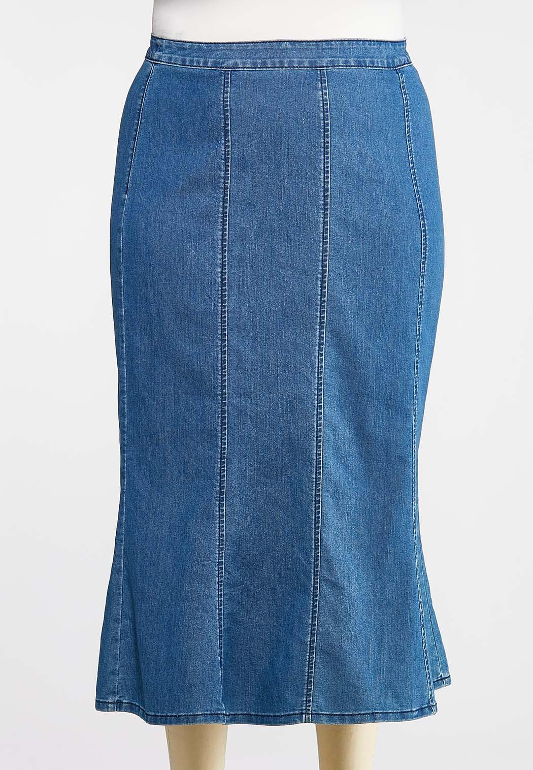 7ee2d3dca Plus Size Seamed Denim Maxi Skirt Skirts Cato Fashions