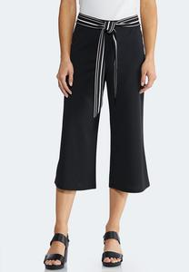 Cropped Stripe Tie Pants