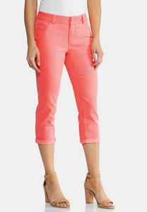 Cropped Neon Cuffed Pants
