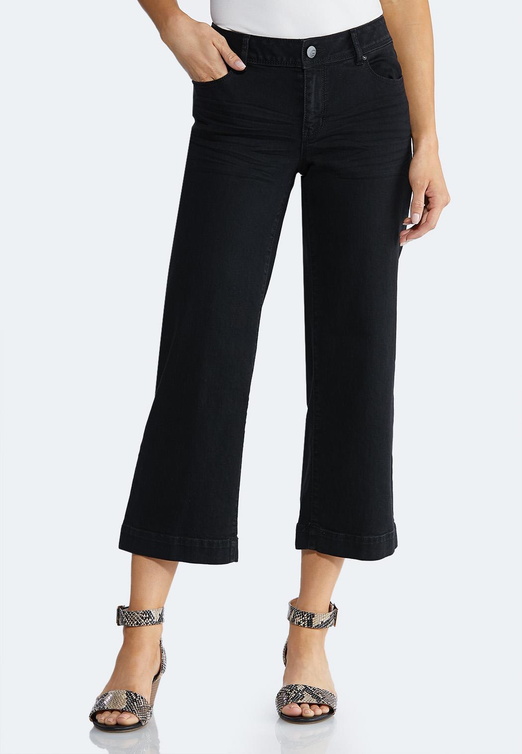Cropped Wide Leg Pants