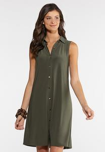 Plus Size Swing Shirt Dress