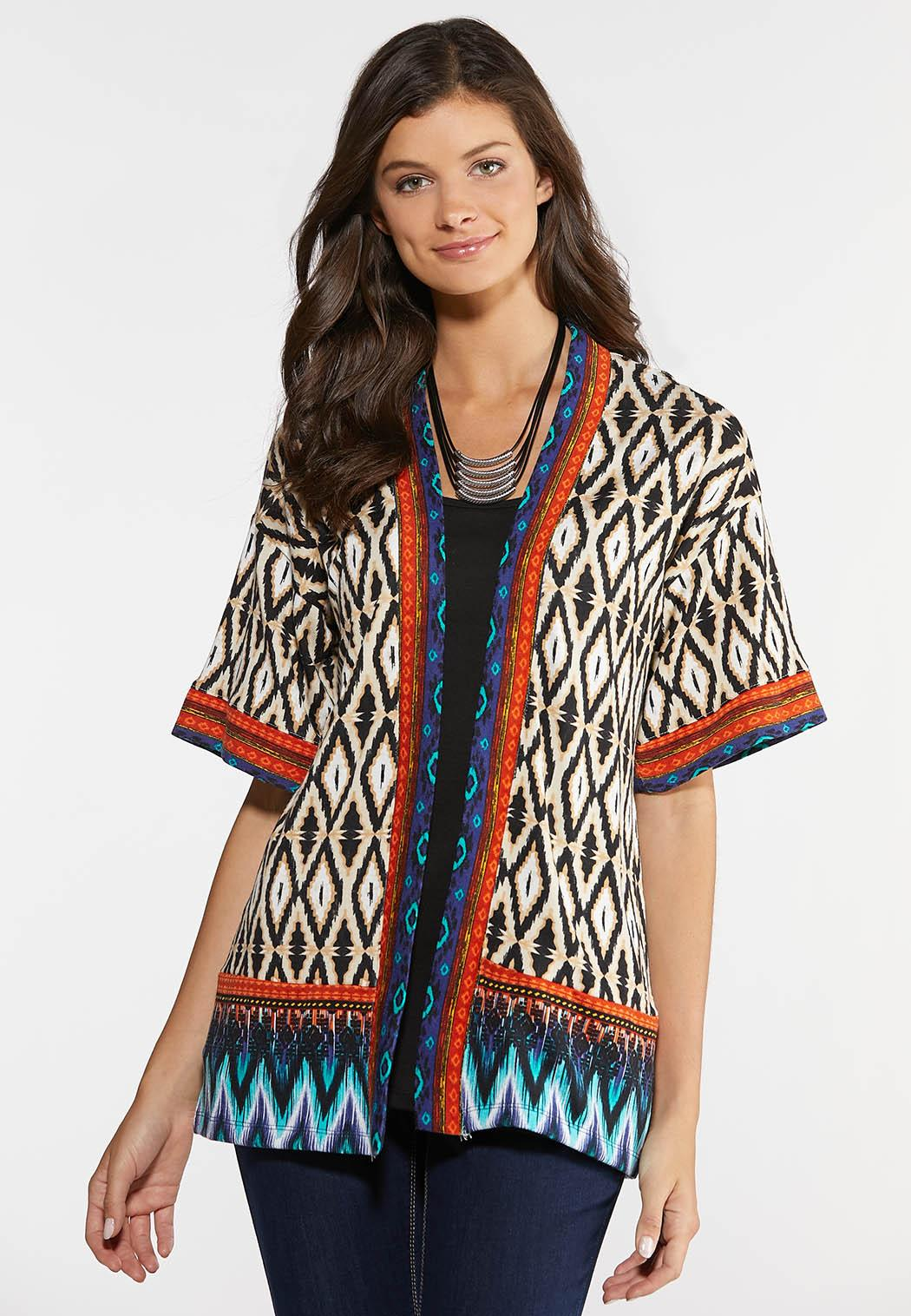 Aztec Knit Kimono