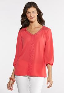 Circle Embroidered Top