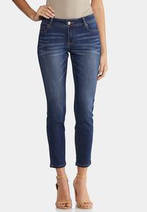 Petite Dark Wash Skinny Ankle Jeans