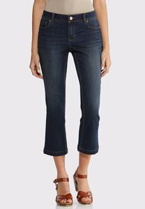Petite Dark Wash Kick Flare Denim