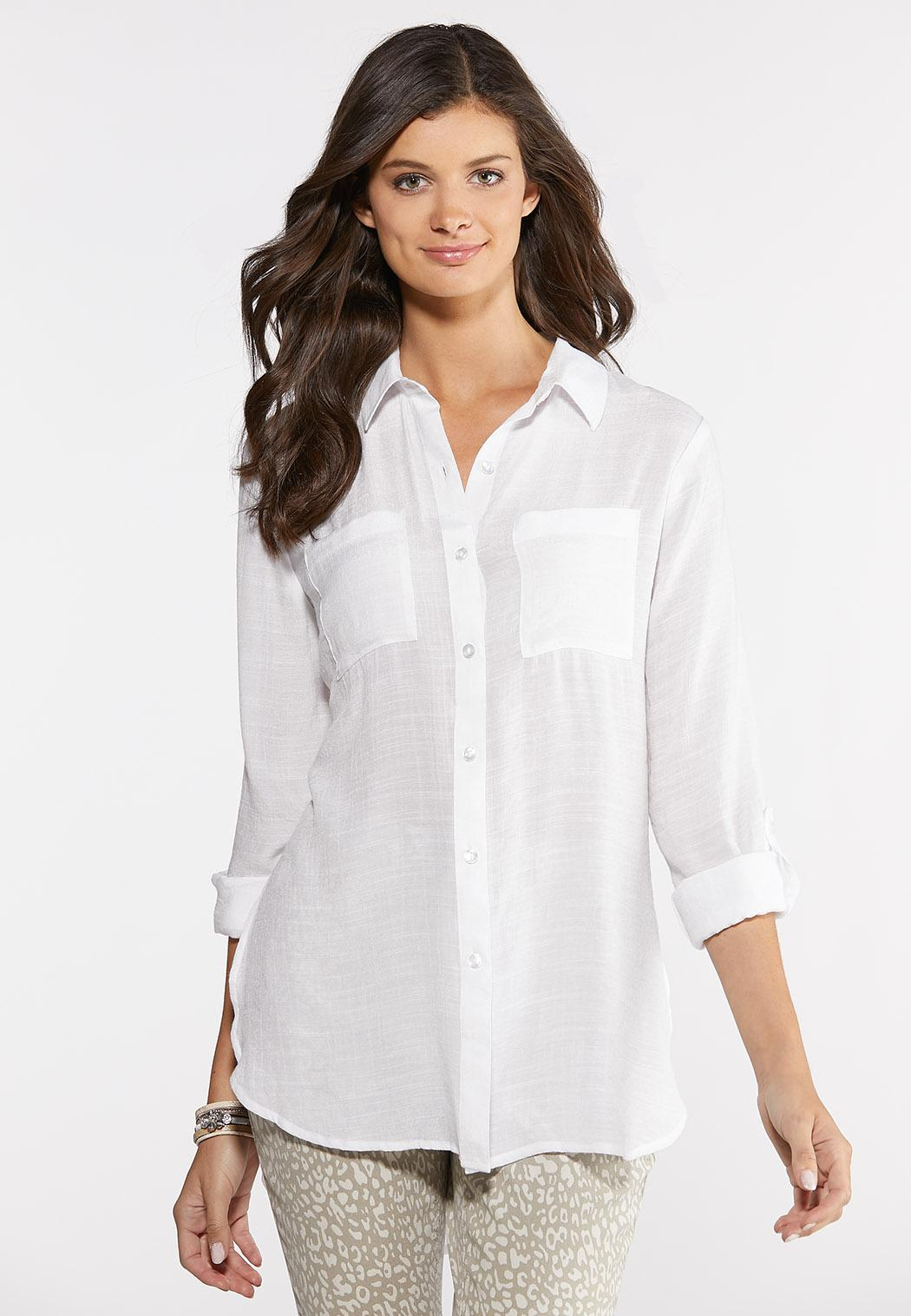 Textured High-Low Tunic