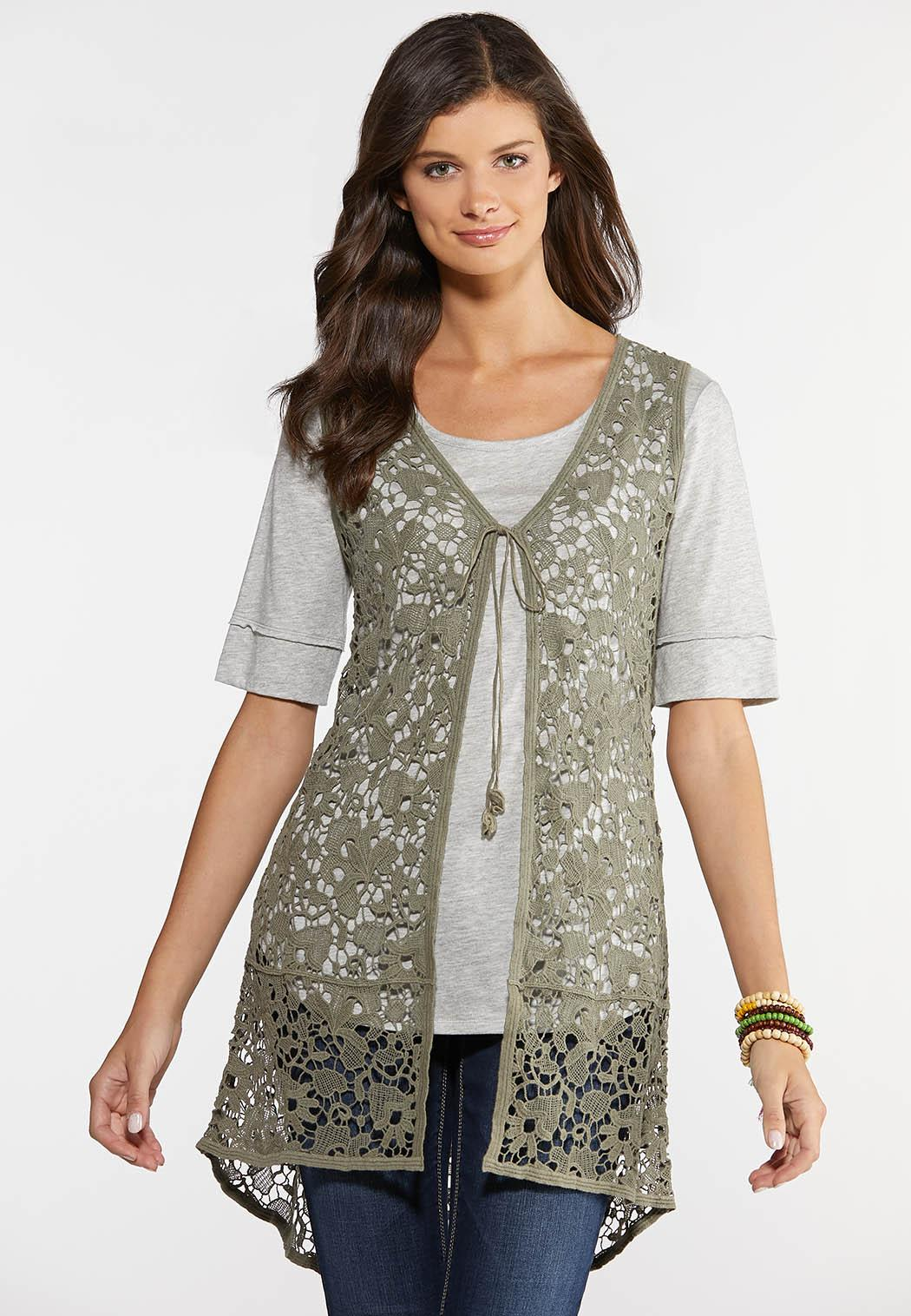 Crochet High-Low Vest