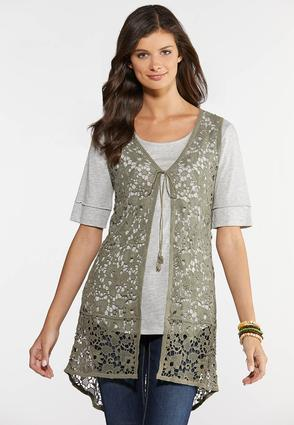 Crochet High- Low Vest