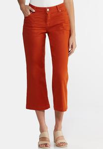 Petite Wide Leg Colored Jeans