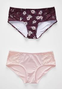 Floral Lace High Waist Panty Set