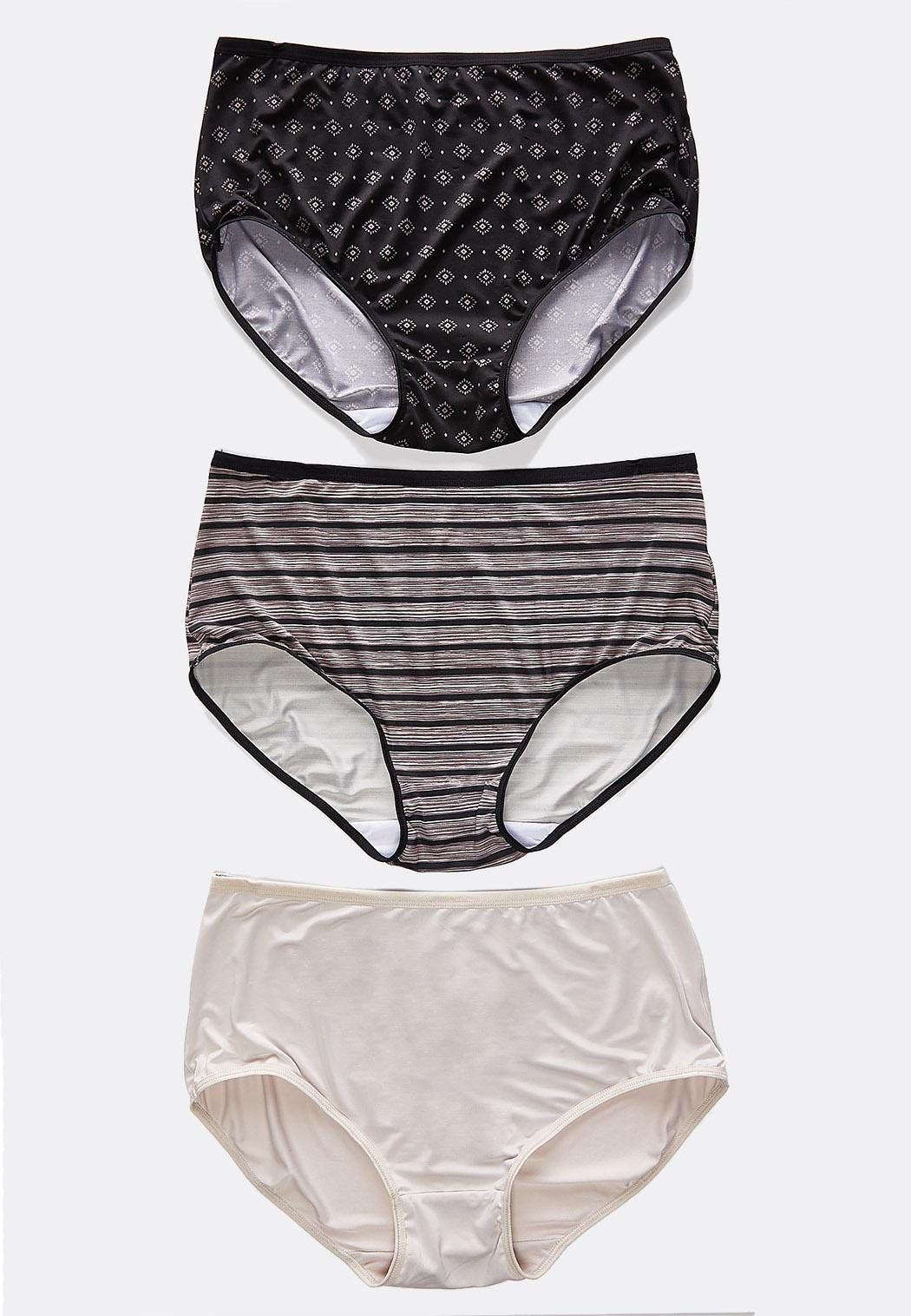 Plus Size Neutral Print Panty Set