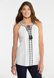 Embroidered Bib Tank