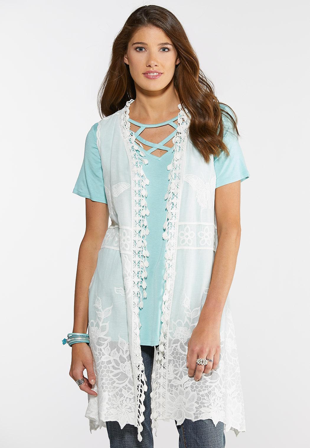 Butterfly Crochet Vest