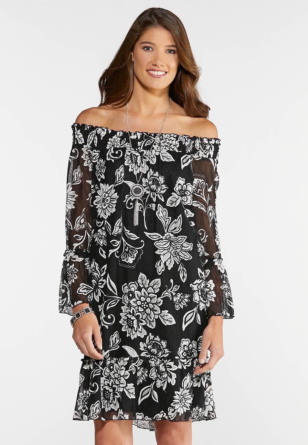 Plus Size Floral Peasant Dress